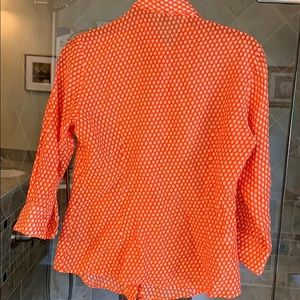 Hand made in Italy orange shirt size small